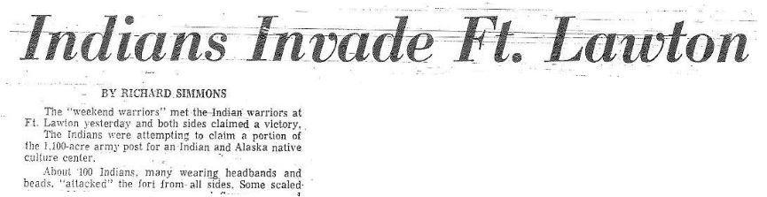 "Seattle Post-Intelligencer  - ""Indians Invade Ft. Lawton"""